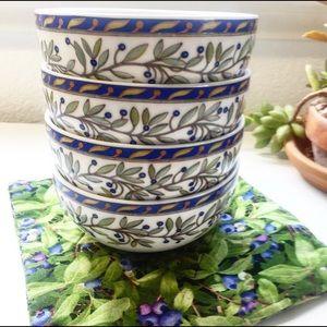Dansk Sageberry Set of Fruit Bowls w/ Salad Plates